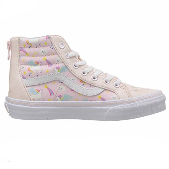 a835a394af Vans Sk8 Hi Zip Glitter Pegasus Skate Shoe NWT
